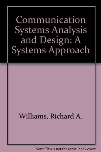 9780131538757: Communication Systems Analysis and Design: A Systems Approach