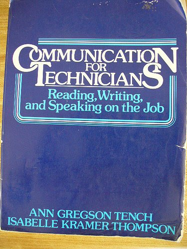 9780131542464: Communication for Technicians: Reading, Writing and Speaking on the Job