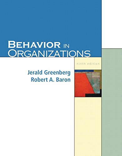 9780131542846: Behavior in Organizations (9th Edition)