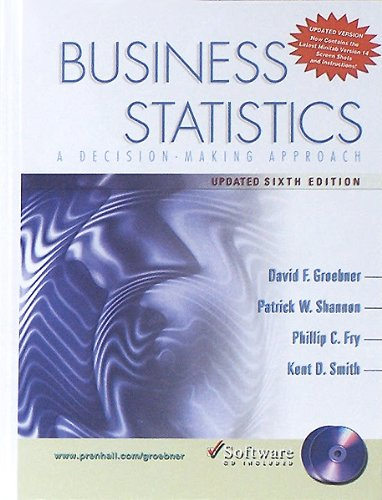 9780131545885: Business Statistics: A Decision-Making Approach and  Student CD Update Package (6th Edition)