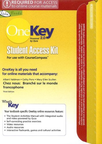 9780131546394: OneKey 2.0 with Quia CourseCompass, Student Access Kit, Chez Nous