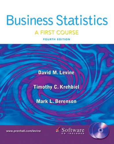 9780131547148: Business Statistics: First Course and Student CD (4th Edition)
