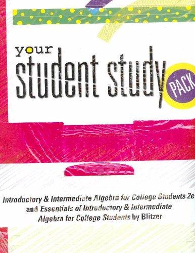 INTRO& INTER ALG S/STUDY PKG for Essentials: BLITZER