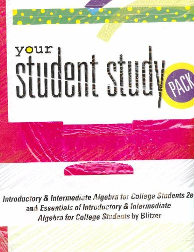 9780131549364: Your Student Study Pack for Introductory & Intermediate Algebra for College Students, 2nd Edition / Essentials of Introductory & Intermediate Algebra for College Students