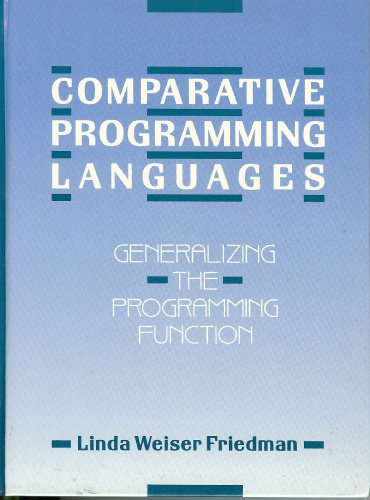9780131554825: Comparative Programming Languages: Generalizing the Programming Function