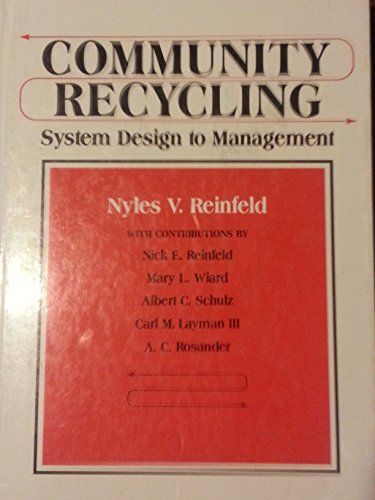 9780131557895: Community Recycling: System Design to Management