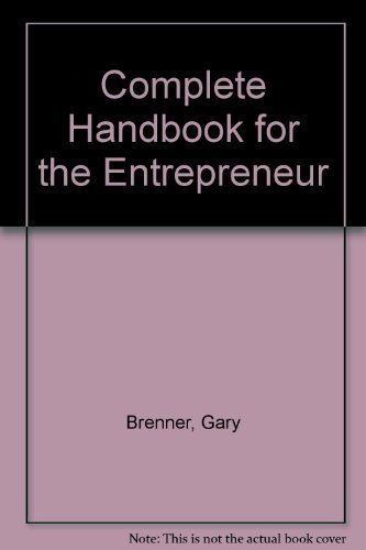 9780131559950: The Complete Handbook for the Entrepreneur