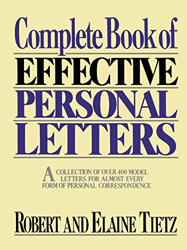 9780131560192: Complete Book of Effective Personal Letters