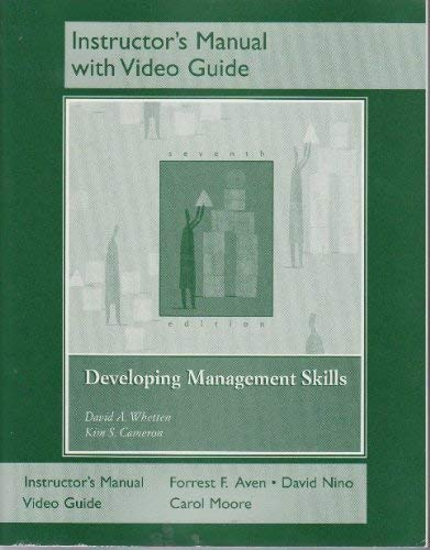 9780131560697: Developing Management Skills - Instructor's Manual with Video Guide