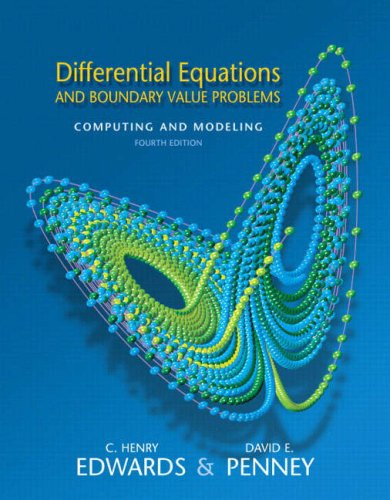 9780131561076: Differential Equations and Boundary Value Problems: Computing and Modeling (4th Edition)
