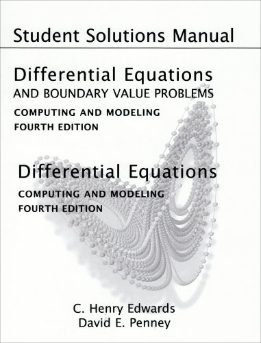 9780131561106: Student Solutions Manual for Differential Equations and Boundary Value Problems: Computing and Modeling