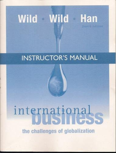 9780131561540: International Business, Fourth Edition: The Challenges of Globalization (Instructor's Manual)