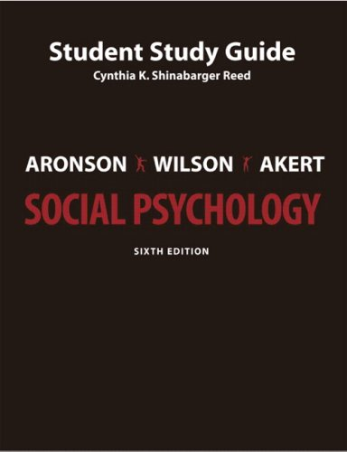 9780131562325: Study Guide for Social Psychology, 6th Edition