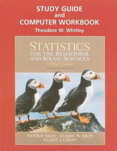 9780131562790: Study Guide and Computer Workbook for Statistics for the Behavioral and Social Sciences
