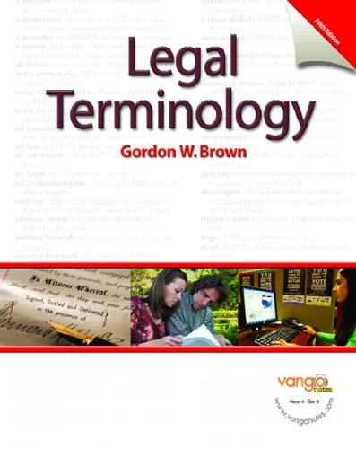 9780131568044: Legal Terminology