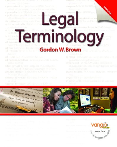 9780131568044: Legal Terminology (5th Edition)