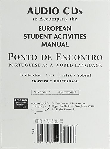9780131574113: European SAM Audio for Ponto de Encontro: Portuguese as a World Language