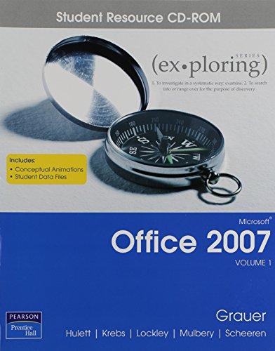 9780131575714: Exploring Microsoft Office 2007 Vol 1 Student CD