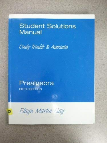 9780131576391: Student Solutions Manual: SSP Component