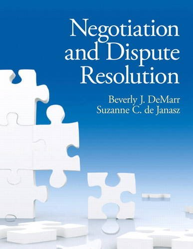 9780131577534: Negotiation and Dispute Resolution