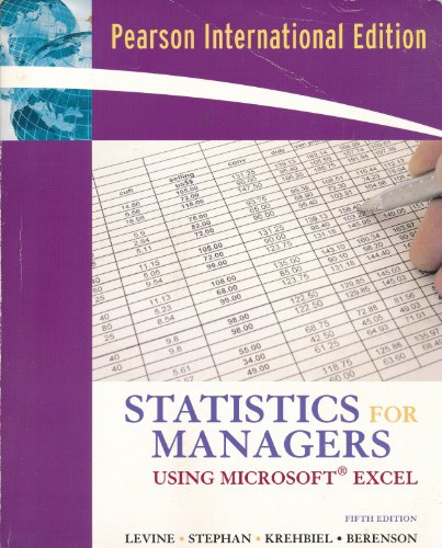9780131579408: Statistics for Managers Using Microsoft Excel (International Edition) Edition: Fifth