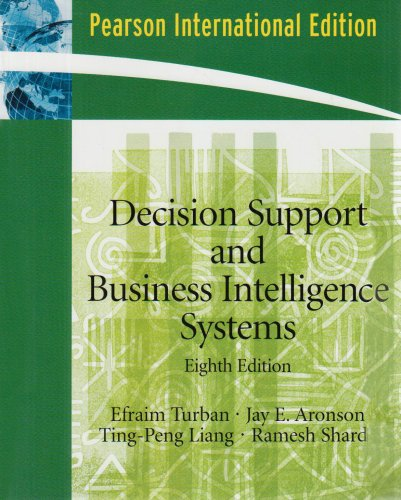 9780131580176: Decision Support and Business Intelligence Systems: International Edition