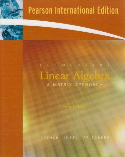 9780131580343 Elementary Linear Algebra International