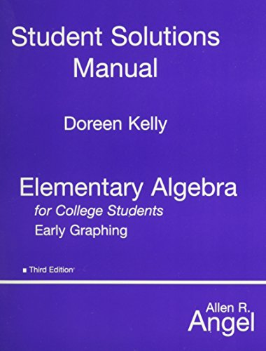 Elem Algebra Early Graphg for Coll Students: Allen R. Angel