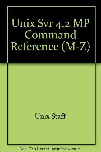 9780131581067: Unix Svr 4.2 MP Command Reference (M-Z)