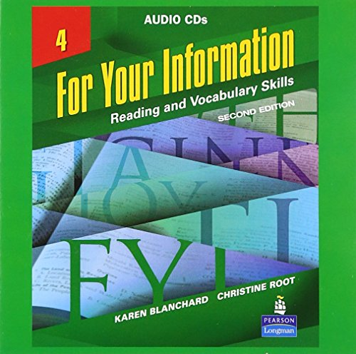9780131582354: For Your Information : Reading and Vocabulary Skills, Vol. 4