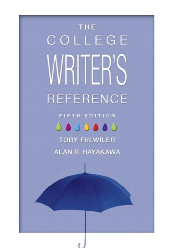 9780131584624: The College Writer's Reference (Tabbed Version)