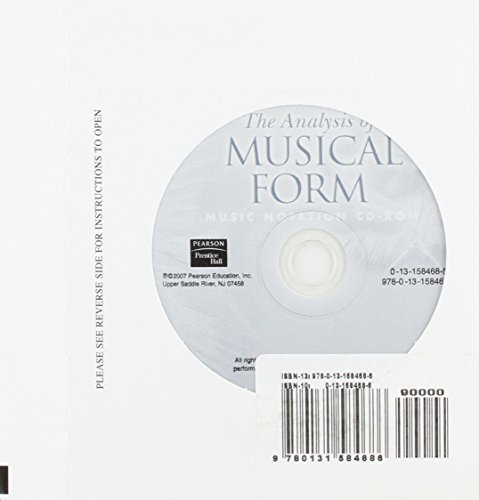 9780131584686: The Finale Files for Analysis of Musical Form