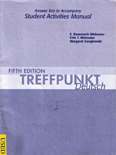 9780131585195: Answer Key for Treffpunkt Deutsch: Grundstufe
