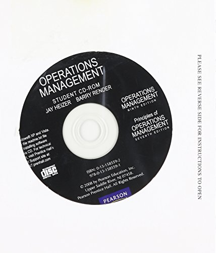 9780131585591: Student CD for Operations Management