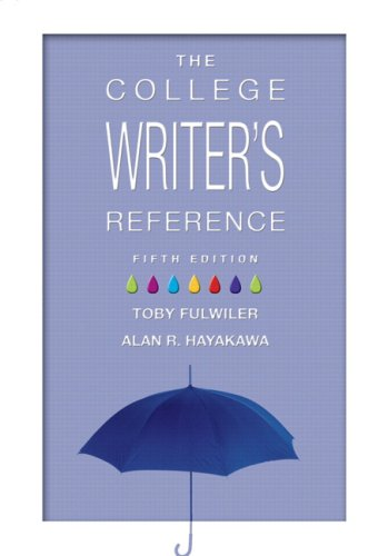 9780131586338: The College Writer's Reference: (No Tabs)