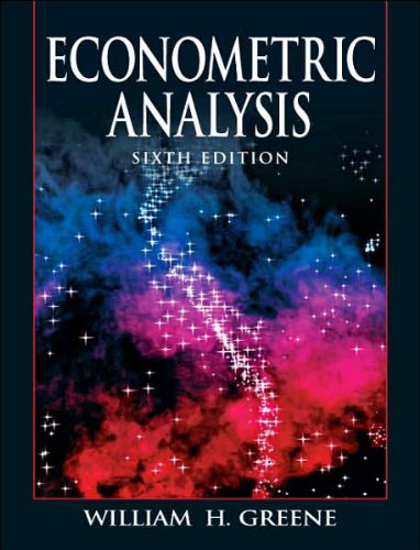 9780131587199: Econometric Analysis (6th Edition)