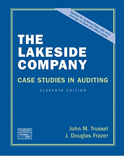 9780131588516: Lakeside Company: Case Studies in Auditing (11th Edition)