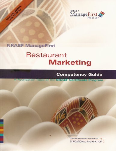 9780131589117: NRAEF ManageFirst: Restaurant Marketing: Competency Guide: A Foundation Topic of the NRAEF Certificate Program