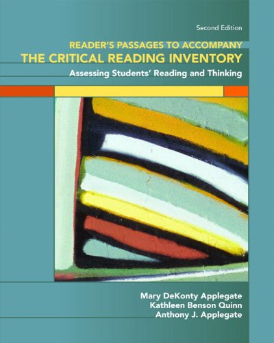 9780131589261: Reader's Passages to Accompany The Critical Reading Inventory Assessing Students' Reading and Thinking