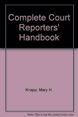 9780131590625: Complete Court Reporters' Handbook