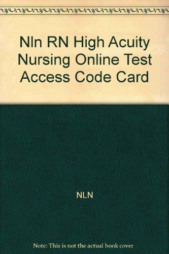 9780131590960: NLN RN High Acuity Nursing Online Test Access Code Card