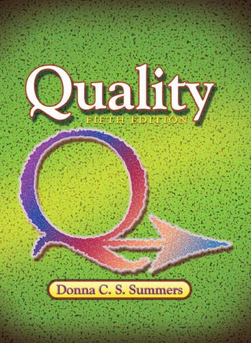 9780131592490: Summers: Quality_5 (5th Edition)