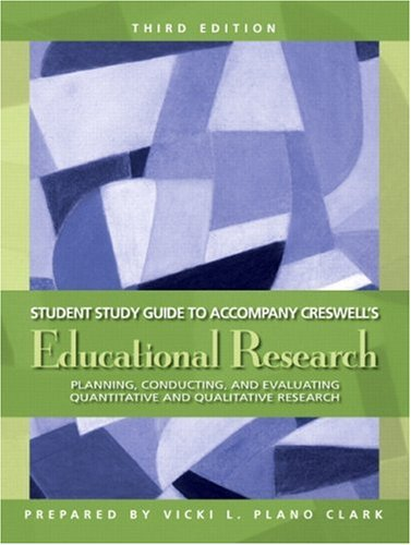 9780131592964: Study Guide for Educational Research: Planning, Conducting, and Evaluating Quantitative and Qualitative Research