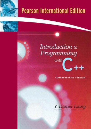 9780131594180: Introduction to Programming with C++ : Comprehensive Version Pearson International Edition