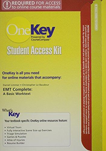 9780131594562: CourseCompass, Student Access Kit, EMT Complete: A Basic Worktext
