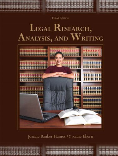 9780131594807: Legal Research, Analysis, and Writing (3rd Edition)