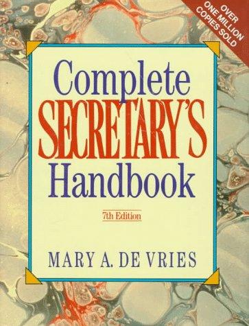 9780131596740: Complete Secretary's Handbook