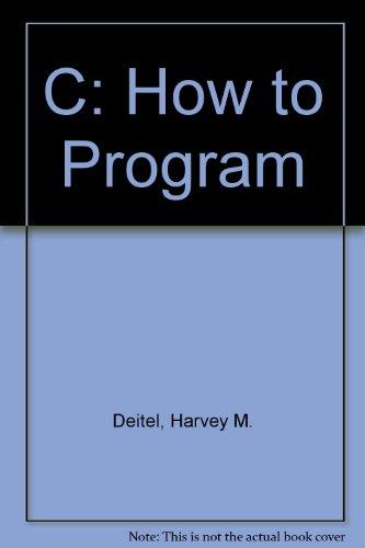 9780131596825: C: How to Program