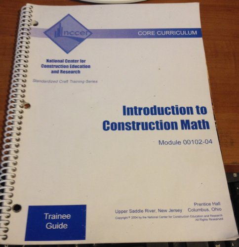 9780131600058: 00102-04 Introduction to Construction Math TG