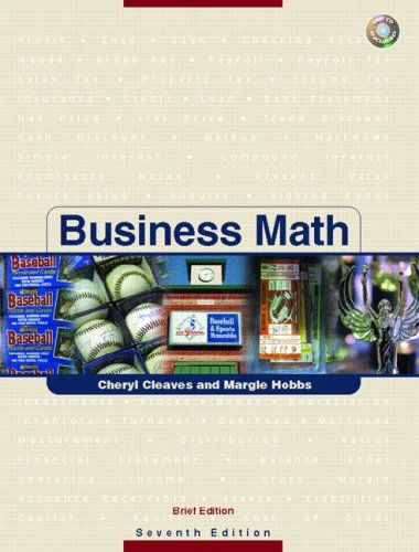 9780131606746: Business Math, Brief w/CD & Study Guide & Tutor Center Access Card Pkg. (7th Edition)